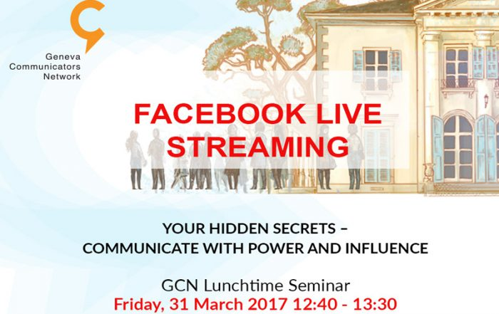 GCN lunch seminar 31 March 2017 Facebook live streaming announcement