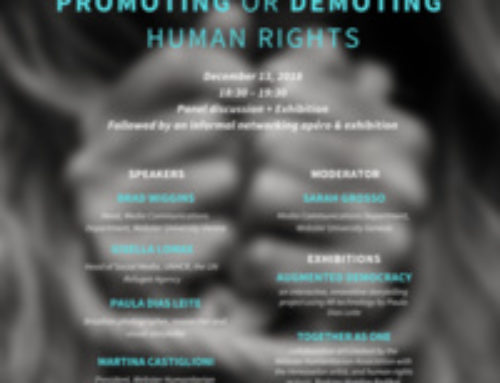 Seminar: Can social media change the world? promoting or demoting human rights – Thursday 13 December;  18h30-19h30
