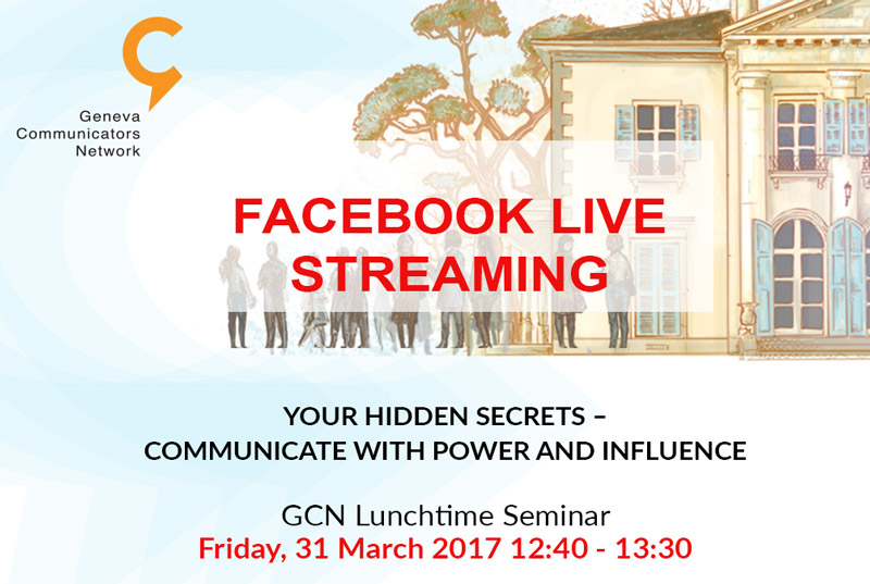 Facebook live streaming of GCN lunch seminar this Friday